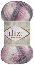 Alize BAMBOO FINE BATIK 3245 сер-роз-белый