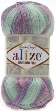 Alize BAMBOO FINE BATIK 3256 бирюза-роз-серый
