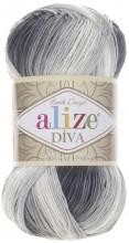 Alize DIVA BATIK 1900 серый-белый