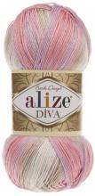 Alize DIVA BATIK 2807 розовый-беж