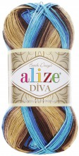 Alize DIVA BATIK 3243 беж-коричн-син-голубой