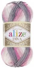 Alize DIVA BATIK 3245 бел-роз-серый
