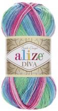 Alize DIVA BATIK 4537 бирюза-зел-розовый