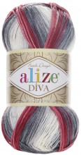 Alize DIVA BATIK 5740 бел-сер-ро-овый