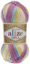 Alize DIVA BATIK 6785 роз-голуб-лимон