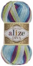 Alize DIVA BATIK 6790 джинс-слива-фисташка