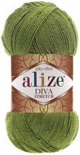 Alize DIVA STRETCH 210 зеленый