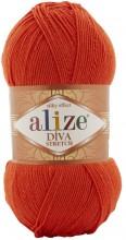 Alize DIVA STRETCH 37 яр.оранжевый