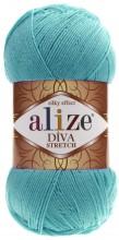 Alize DIVA STRETCH 376 бирюза