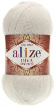 Alize DIVA STRETCH 62 молочный