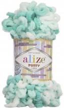 Alize PUFFY COLOR 5920 мята принт