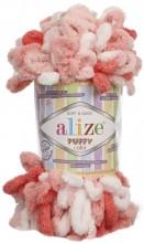 Alize PUFFY COLOR 5922 коралл принт