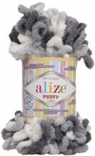 Alize PUFFY COLOR 5925 серый принт