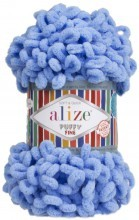 Alize PUFFY FINE 112 яр.голубой