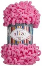Alize PUFFY FINE 121 яр.розовый