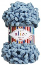 Alize PUFFY FINE 280 дымчато-голубой