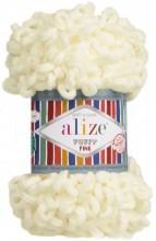 Alize PUFFY FINE 62 молочный