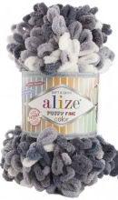Alize PUFFY FINE COLOR 5925 серый принт