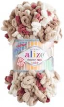 Alize PUFFY FINE COLOR 6040 беж-бел-вишня