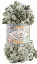 Alize PUFFY FINE COLOR 6065 хаки принт