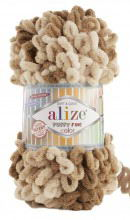 Alize PUFFY FINE COLOR 6066 бежевый принт