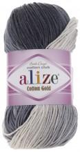 Alize COTTON GOLD BATIK 2905 серый-белый
