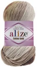 Alize COTTON GOLD BATIK 3300 коричн-беж-молочный