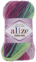 Alize COTTON GOLD BATIK 4147 роз-зел-серый