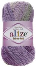 Alize COTTON GOLD BATIK 4149 сирен-фиол-зел-беж-белый