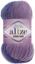 Alize COTTON GOLD BATIK 4531 неж.бирюза-сирень-сух.роза