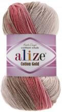 Alize COTTON GOLD BATIK 5970 белый-роз-беж