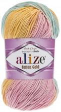 Alize COTTON GOLD BATIK 6784 оранж-серо-голуб-беж