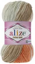 Alize COTTON GOLD BATIK 7103 коричн-рыжий-св.бирюза