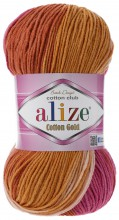 Alize COTTON GOLD BATIK 7107 рыжий принт